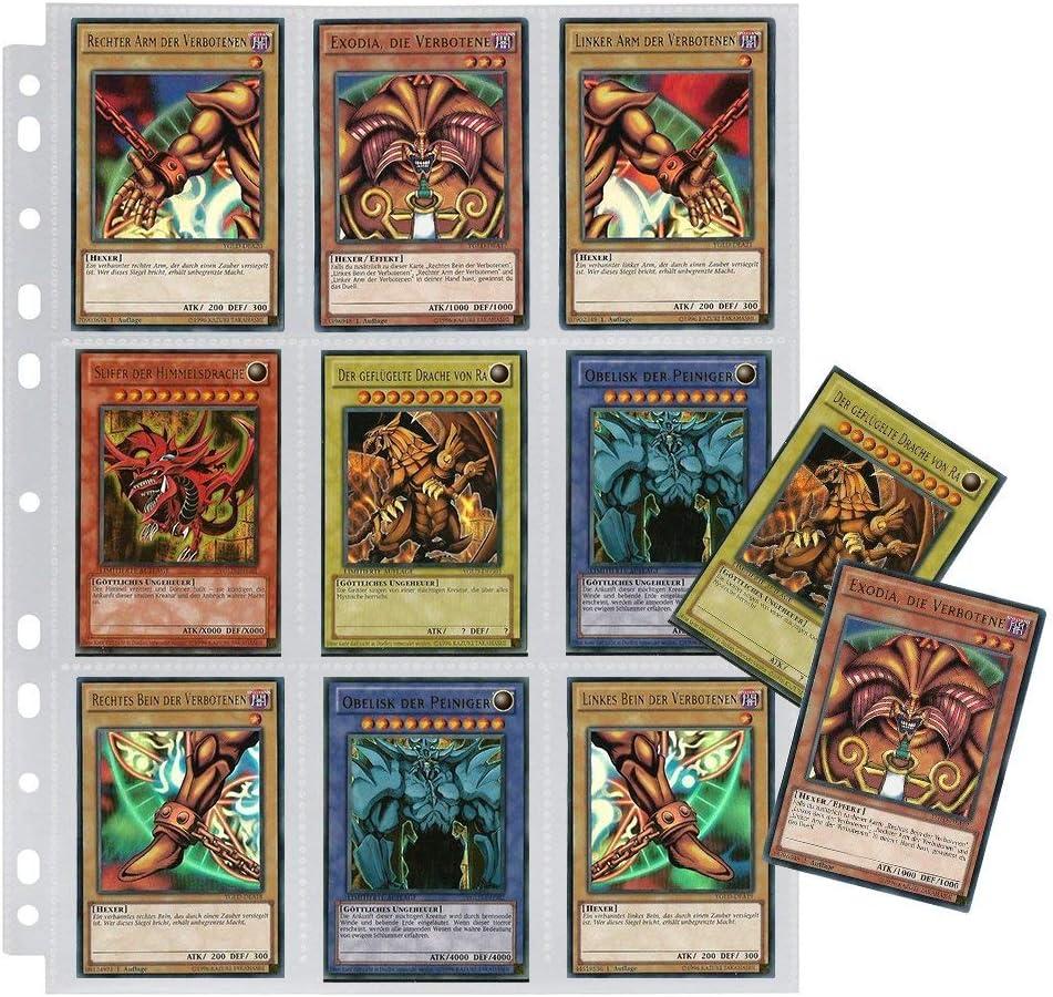 Card Binder 30 p/áginas Lictin Archivador de cartas transparente con aperturas superiores e inferiores. Maximum 540 Cards para cartas de juego coleccionables