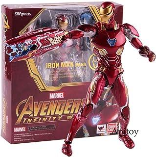 Marvel Avengers Infinity War Figura de acción de Iron Man MK 50 Mark XLX PVC Modelo de colección de Juguete Carácter de superhéroes
