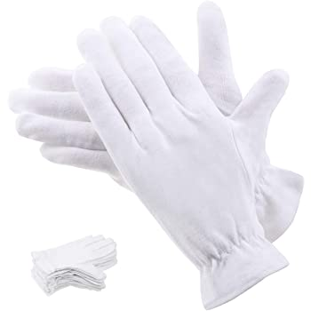 100% Cotton Gloves for Eczema, Selizo 10 Pairs White Cotton Gloves for Women Dry Hands, Moisturizing Cosmetic Night Gloves for Eczema, Dry Hands Moisturizing, Sensitive Irritated Skin Spa Therapy Secu