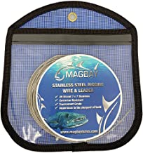 MagBay Lures 49 Strand Cable 7x7 Stainless Steel Fishing Wire Leader Kit