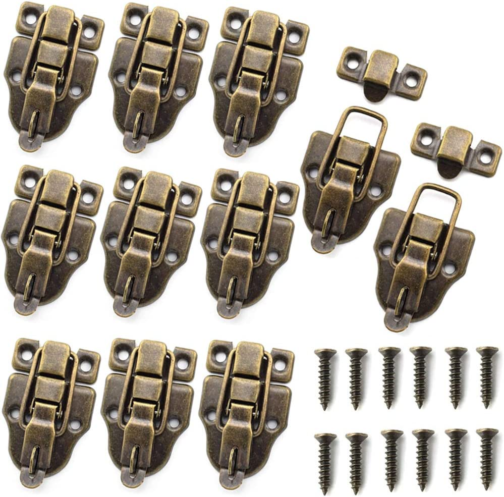 Max 81% OFF 10PCS Spring new work one after another Metal Duckbilled Box Hasp Lock Wood for Toggle Catch Latch