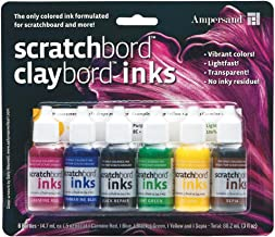 Ampersand Scratchbord Claybord Ink 6-Pieces