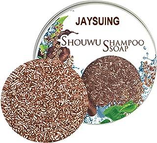 TZOU Polygonum Multiflorum Shampoo Hair Darkening Shampoo Bar Natural Organic Conditioner And Repair Care Solid Shampoo Po...
