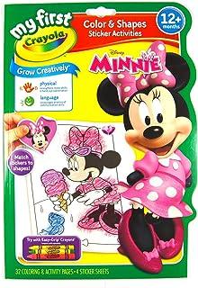 Crayola - Mini Kids - Album coloriage & autocollants Minnie - Coloriage pour enfant et tout petit - 256399.012