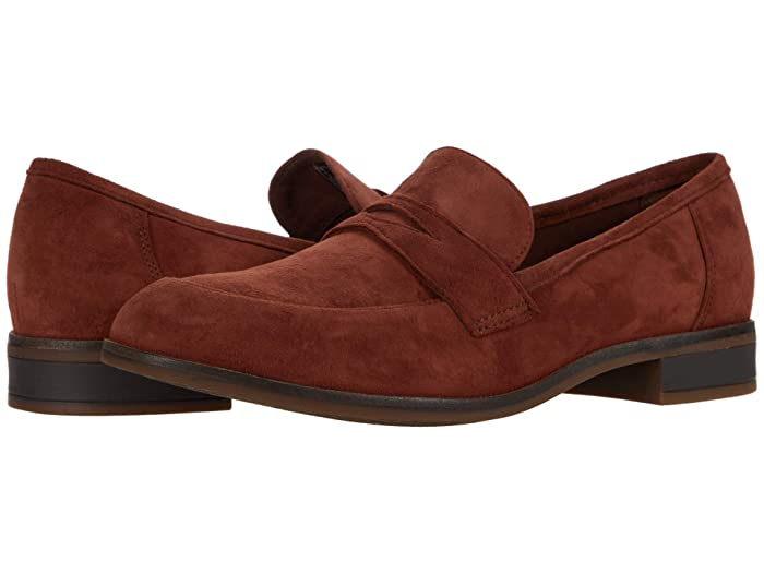Clarks Trish Rose (Mahogany Suede) Women's Shoes