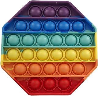 LXXIASHI Pop Fidget Brinquedos para Ansiedade, Push Pop Pop Brinquedo Sensorial de Bolha, Brinquedo de Silicone Alívio de ...