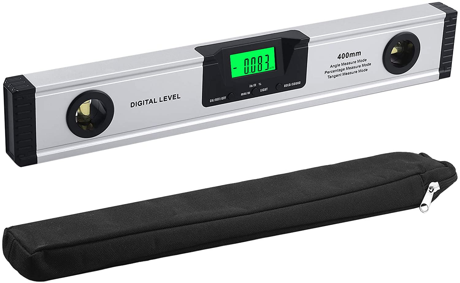Neoteck Super-cheap Digital Torpedo Level Shipping included and Protractor 16-Inch Audible Al