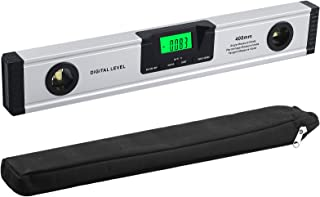 Neoteck Digital Torpedo Level and Protractor 16-Inch, Audible Alerts, V-Groove Neodymium Magnetic Base, Bright LCD Display...