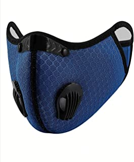 Talabety Sports Masks with Activated Carbon Filter, 1 Mask Filter, 2 Breathing Valves for Casual Outing, Running, Walking,...
