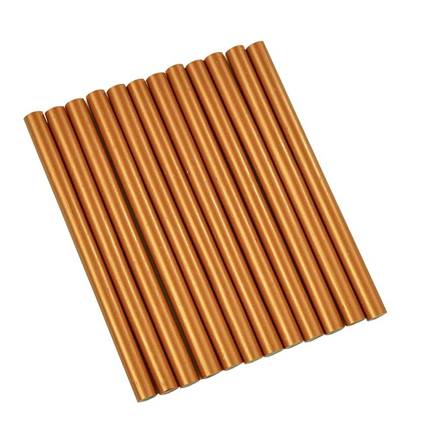 GlueSticksDirect Copper Metallic Colored Glue Sticks Mini X 4