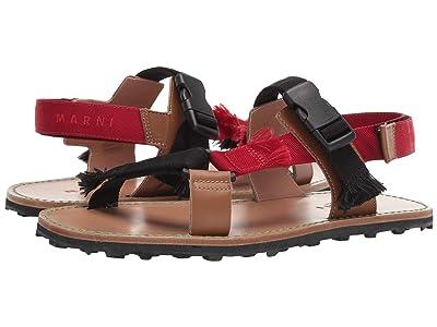 MARNI Trekking Sandal (Black/Tulip/Moca) Men