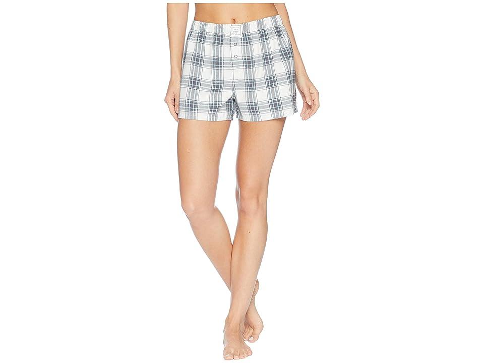 P.J. Salvage Plaid Please Shorts (Grey) Women