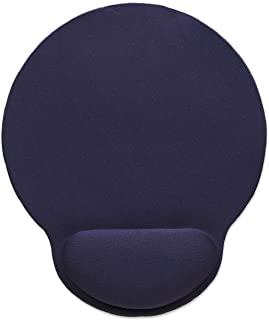 Manhattan Wrist Gel Support Pad and Mouse Mat, Blue, 241 × 203 × 40 mm, non slip base, Lifetime Warranty, Card Retail Pack...