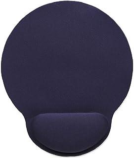 Manhattan almohadilla para ratón (Mouse Pad) 434386 con descansa muñecas, 2,41 cm, 2,03 cm, azul, coloración de superficie monótono, base antideslizante