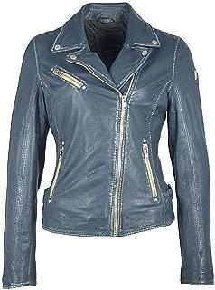 Mauritius Women's Vegetable Tanned Lambskin Leather Jacket - Sofia