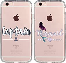 1 iPhone 7 Case Captain & Mermaid Prince Princess Couple Matching Stuff Gifts iPhone 7 4.7