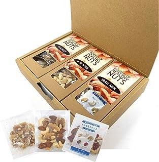 [Amazon限定ブランド] 五感満腹 3種類のナッツ小袋ギフトセット (ミックスナッツ トレイルミックス クルミ )