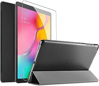 ProCase Funda y Protector de Pantalla para Galaxy Tab A 10.1 2019, Carcasa Folio Ligera y Delgada con Reverso Translúcido/Soporte Plegable para Galaxy Tab A 10.1