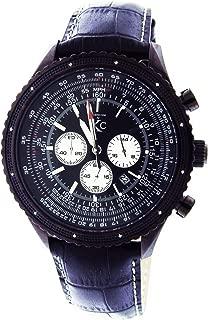Techno Com By Kc 50mm 12 Diamonds Watch Dark Black Face