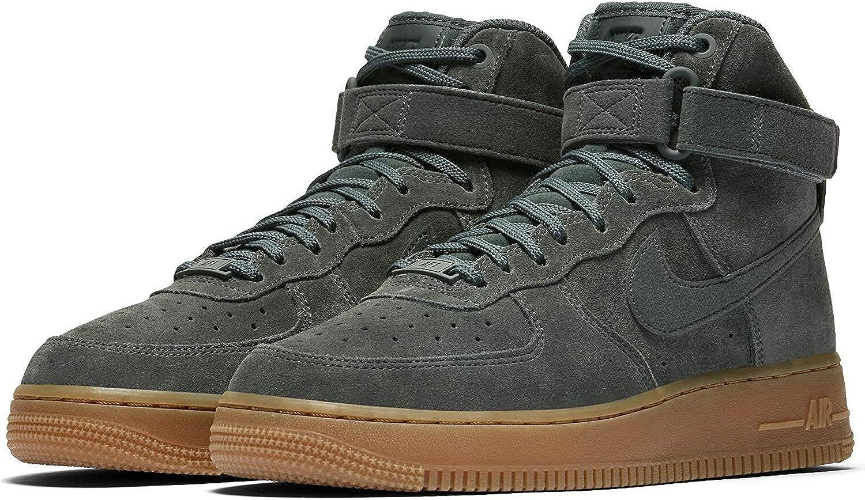 Nike Air Force One AF-1 Hi SE  Vintage Grün  Gum Sole, Schuhe Damen  | Elegante Form