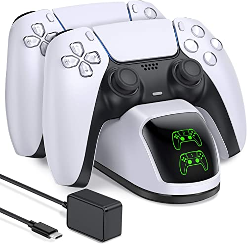 PS5 Charging Station, PS5 Controller Charger Station for Dualsense Controller, Upgrade PS5 Controller Charger with 3A...