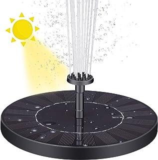 VITCOCO Fuente Solar con Bateria, 2.5 W Flotante Kit Bomba