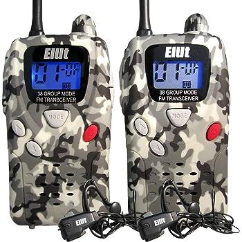 ELUT(エルト)特定小電力トランシーバー 2台セット イヤホンマイク付き 迷彩色 アーバン・カモフラージュ /MSE-20