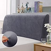 TAOCOCO Bed Headboard Slipcover, Elastic Headboard Protection Cover, Dustproof Cover for Bedroom-Queen, Gray