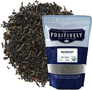 Organic Positively Tea Company, Irish Breakfast Black Tea, Loose Leaf, 16 Ounce