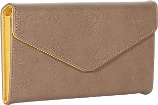 CRESTIA 通帳が入る 磁気防止 大容量 レディース 長財布 通帳ケース 革 レザー RFID カード12枚 収納