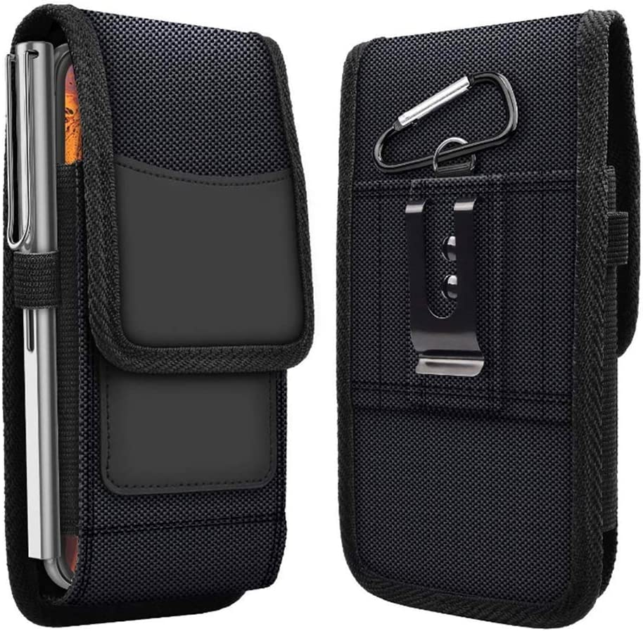 Phone Pouch Belt Clip Holster Bag Cover for Nokia 2.4 3.4 5.3 Waist Nylon Case for Cubot Note 20 (2020) Belt Loops Card Holder