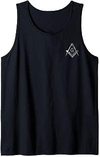Masonic Shirt Modern Square Compass Freemason Lodge Tank Top