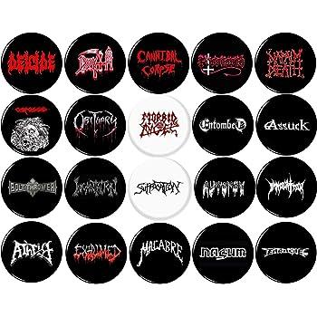 25mm 1 inch Button Badge Death Metal PinBack