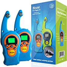 iKsee 2019 Must-Have Dung Beetle Walkie Talkie Set for Adults and Kids with Compass Flashlight, 3+ Mile Long Range Two Way Radios Toys Gifts for 4-12 Boys Girls Awards and Family Games (Blue,1 Pair)