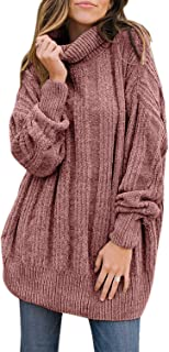 Dokotoo Womens Loose Oversized Casual Turtle Neck Sweater Pullover Top