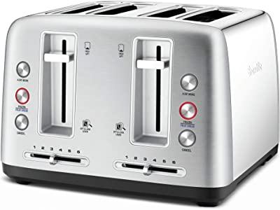 Breville 4 Slice Toasters, Stain Less Steel, LTA670BSS