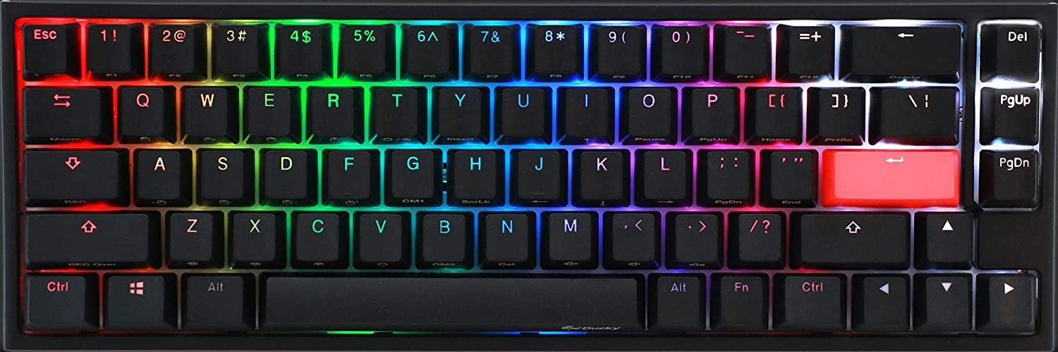 Ducky One 2 SF Gaming, MX-Speed-Silver, RGB LED - Negro, DKON1967ST-PUSPDAZT1