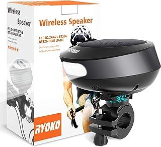 Bike Light Bluetooth Speaker, Wireless Bike Speaker with Loud Sound & Rich Bass, Bluetooth V4.1+EDR and LED Torch Light, I...