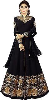 Fashion Basket Women's Georgette Semi-stitched Salwar Suit