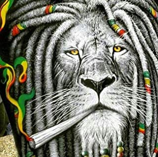 Kaliosy 5D Diamond Painting Smoking is a Lion by Number Kits Paint with Diamonds Art for Adults, DIY Crystal Craft Full Drill Cross Stitch Decoration (12x12inch)