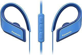 Panasonic RP-BTS35 - Auriculares Bluetooth Deportivos (Impermeables, Uso cómodo y Ultraligero, Batería Duradera, Cancelación de Ruido, Carga rápida, Micrófono y Manos Libres), Color Azul