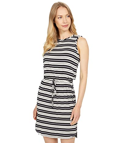 Calvin Klein Cinched Waist Striped Dress Women