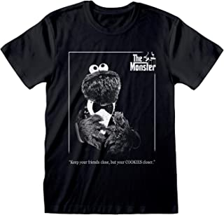 Sesame Street Cookie Monster Godfather Women's Boyfriend Fit T-shirt | Official Merchandise | S-XXL, Vaderdag Ladies Baggy...