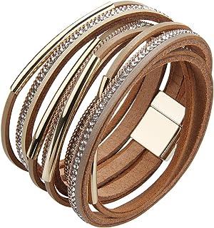 80a7768da73a Amazon.es: pulseras anchas de cuero - Mujer: Joyería