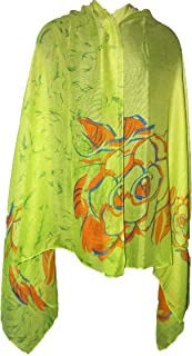Floral Scarf Long Shawl Wraps Printed Viscose Cover Ups Yoga Bohemian Boho Indian Gypsy Hippie Big Sarong