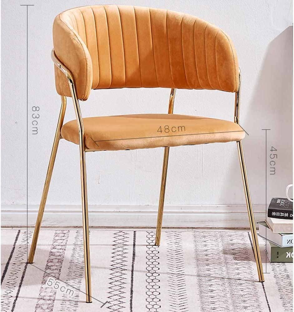 Chaise De Salle Chaise Simple Chaise De Bureau Maquillage Nordique Dressing Maison Tabouret Chaise Restaurant,F D