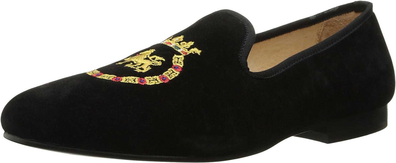 SMYTHE & DIGBY Men's Albert Slipper Leather Velvet Loafer