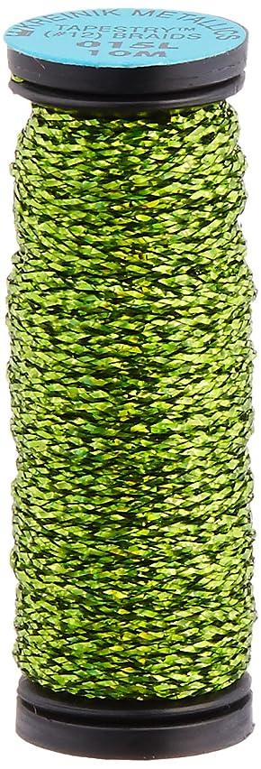 Kreinik No.12 Metallic 10m Tapestry Craft Braid, 11-Yard, Laser Lime