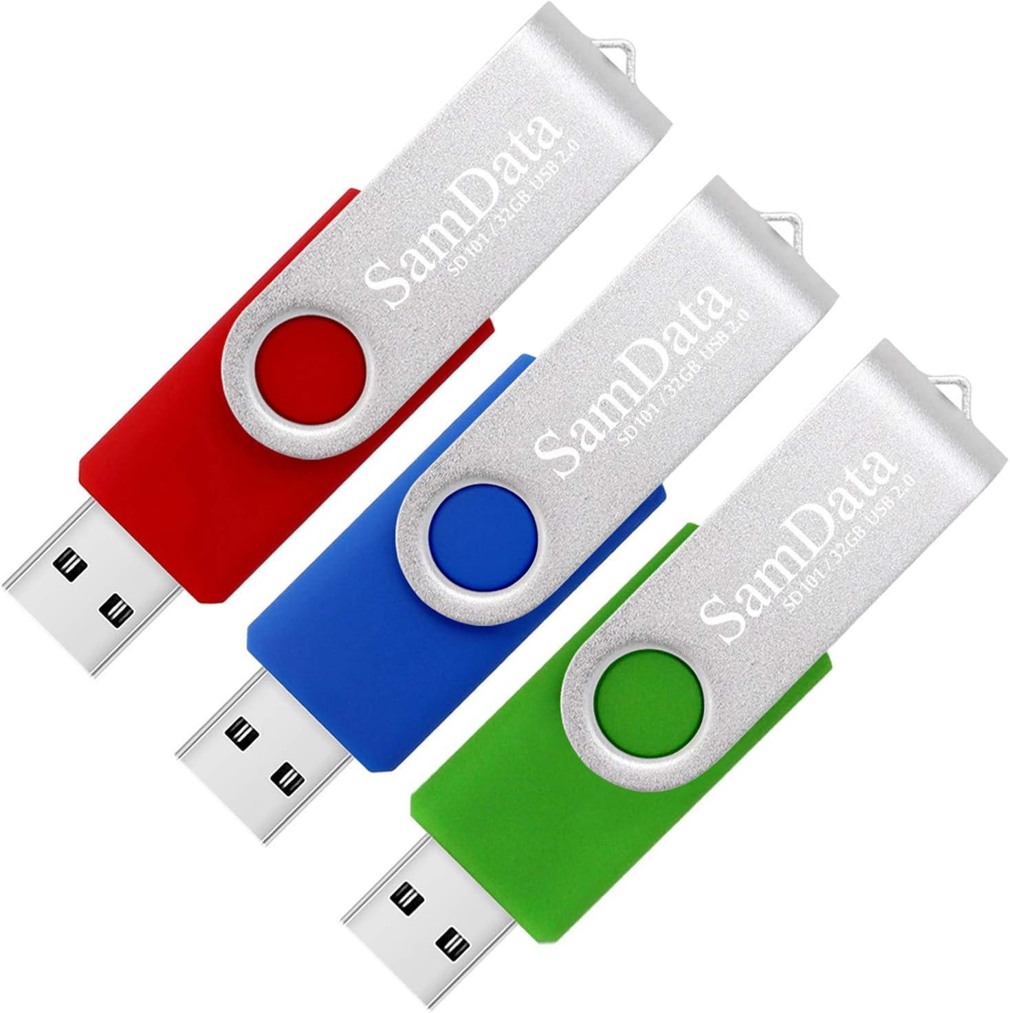 SamData USB 2.0 Raleigh Mall Flash Drive 32GB Swivel Memo Pack Ranking TOP11 3 Thumb