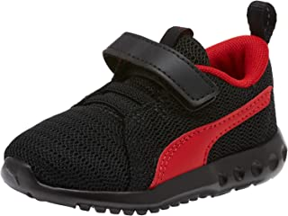 PUMA Baby Carson 2 Velcro Sneaker, Black-high Risk red, 5 M US Toddler